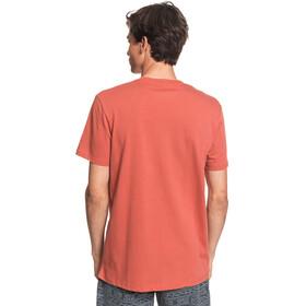 Quiksilver Words Remain Camiseta Manga Corta Hombre, redwood